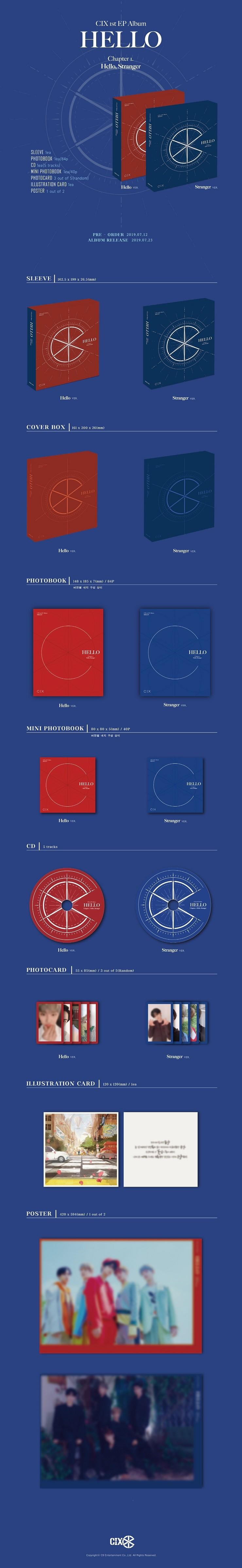 CIX(씨아이엑스) - HELLO Chapter 1. HELLO, STRANGER