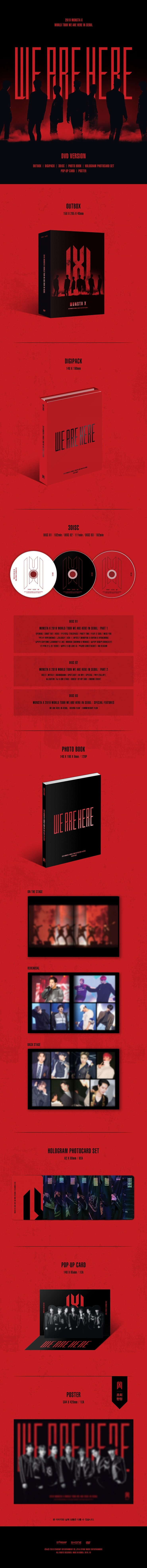 MONSTA X(몬스타엑스) - 2019 WORLD TOUR [WE ARE HERE] IN SEOUL DVD