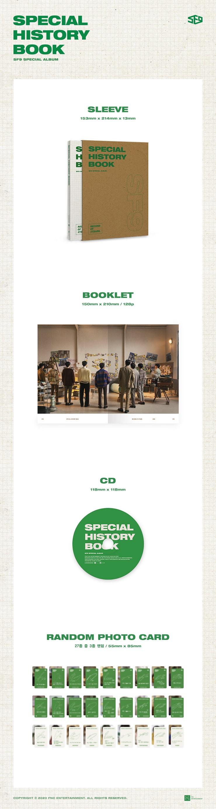 SF9 - Special Album SPECIAL HISTORY BOOK