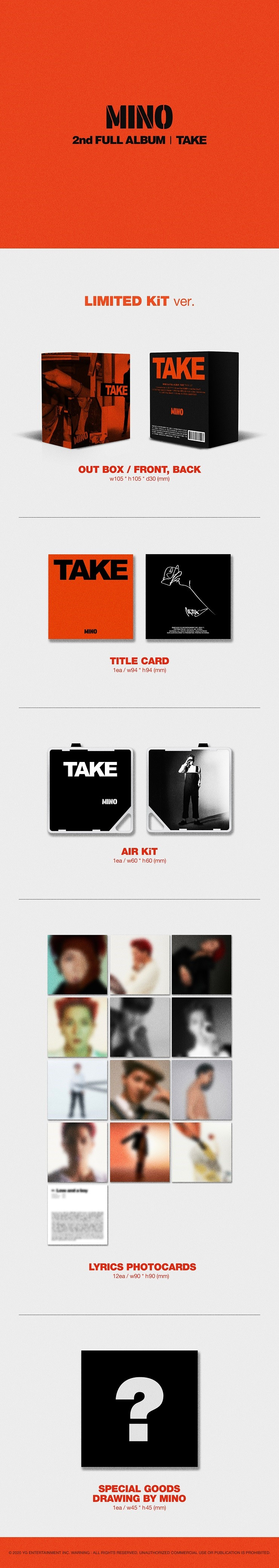 MINO - 2nd FULL ALBUM 'TAKE' [LIMITED KiT Ver.]